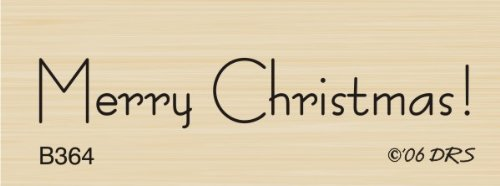1 Line Merry Christmas Rubber Stamp By DRS Designs