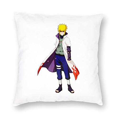 BonanzaPro Naruto Shippuden Pillowcases, Naruto Yondaime 4th Hokage Cosplay Costume Clipart Decorative Plush Anime Pillow Coverfor Sofa Home Bedroom Car,Single-Sided Pattern, 20