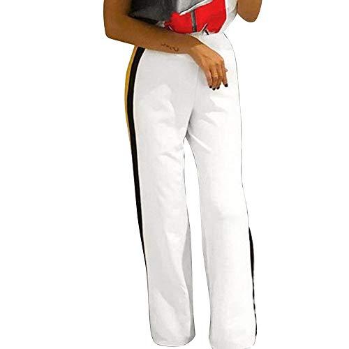 Clearance Sale! Women Pants Womens Side Striped High Waist Wide Leg Yoga Casual Pants Long Trousers ()