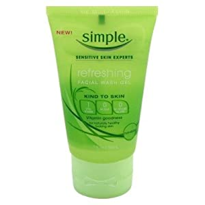 Simple Refreshing Facial Wash Gel 1.7oz (6 Pack)