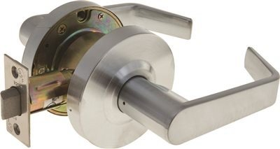 Legend 809076 Grade 2 Commercial Duty Passage Hall and Closet Leverset Lockset, US26D Satin Chrome Finish