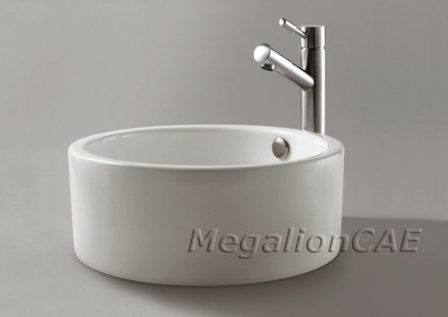 ELITE Luxury Bathroom Ceramic Vessel Sink Bowl for Vanaity,Faucet by ELITE (Image #2)