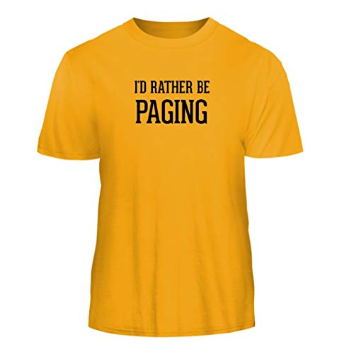 Tracy Gifts I'd Rather Be Paging - Nice Men's Short Sleeve T-Shirt, Gold, Small
