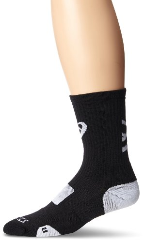 ASICS Team Tiger Crew Socks, Black/White, Medium