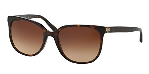 Tory Burch Women's 0TY7106 57mm Dark Tortoise/Brown Gradient - Sunglasses Burch Tori