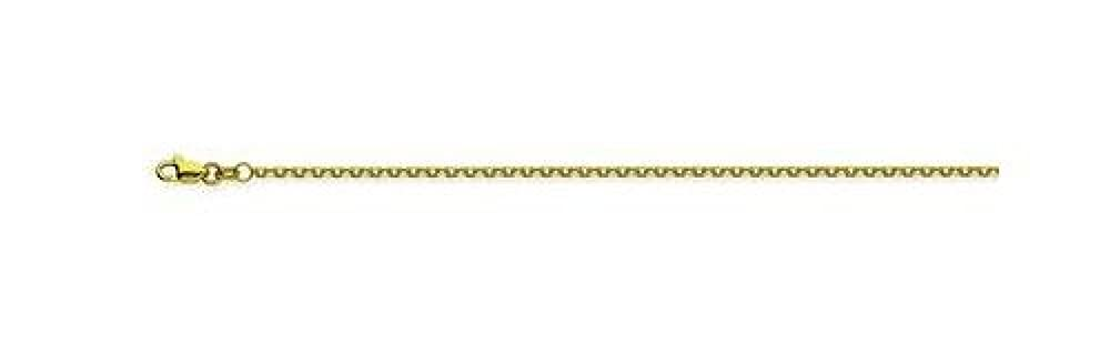 14kt Yellow Gold Diamond Cut Cable Chain Necklace 1.50mm