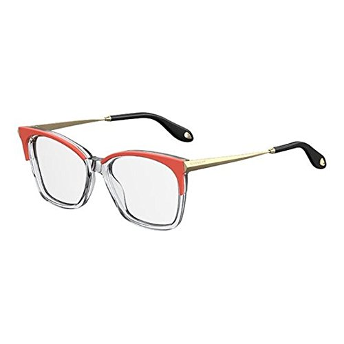 Givenchy GV 0062 SDB Orange Crystal Plastic Rectangle Eyeglasses - Frames Givenchy