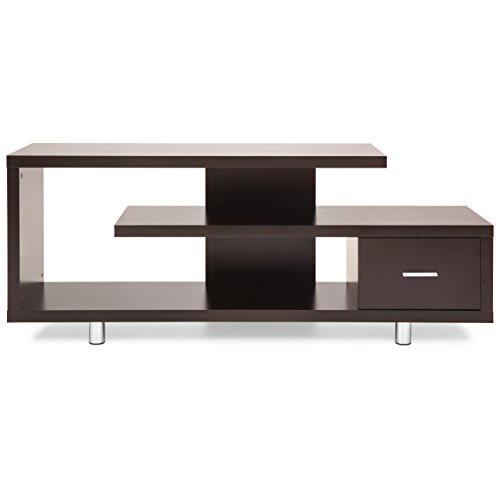 Best Choice Products TV Stand Media Console Wooden Design (Brown)