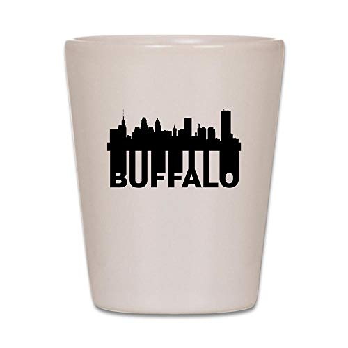 CafePress Roots Of Buffalo NY Skyline Shot Glass, Unique and Funny Shot Glass]()