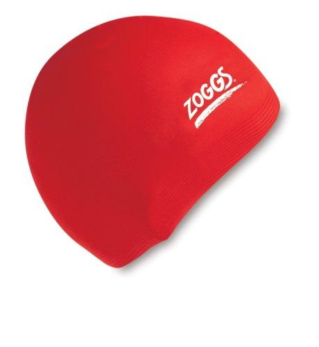 Zoggs 300774 Silicone Cap, Unisex Adulto, Rosso, taglia unica 35320643