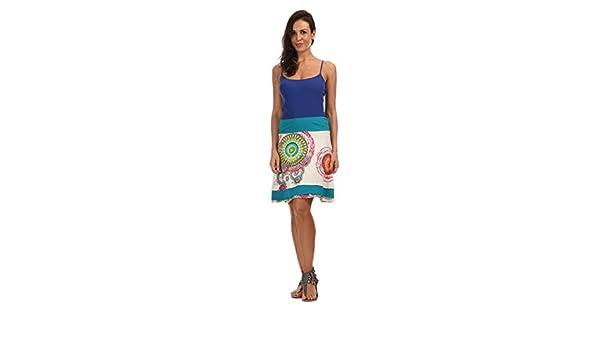 Coton du Monde - Falda ROSY - Mujer - T40 - Blanco: Amazon.es ...