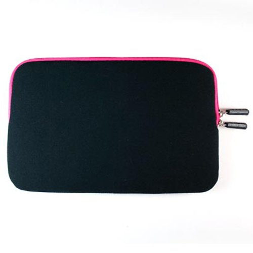 Gizmo Dorks Soft Neoprene Zipper Case (Black with Hot Pink Trim) and Mini USB Bundle for the Velocity Micro Cruz Reader (R101)