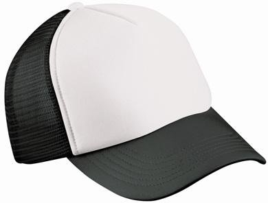 Trucker Mesh Baseball Cap in Polyester in Weiss - Schwarz