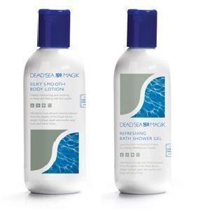 Dead Sea Spa Magik Body Care Set 1x Bath/Shower gel 350ml 1x Body Lotion 350ml Finders International MZX525