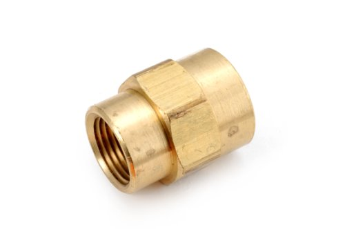 Anderson Metals 06119 Brass Pipe Fitting, Reducing Coupling, 1/2