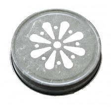 Pewter Daisy Jelly Lid for Mason Jars 12 Count (Pewter Lid)