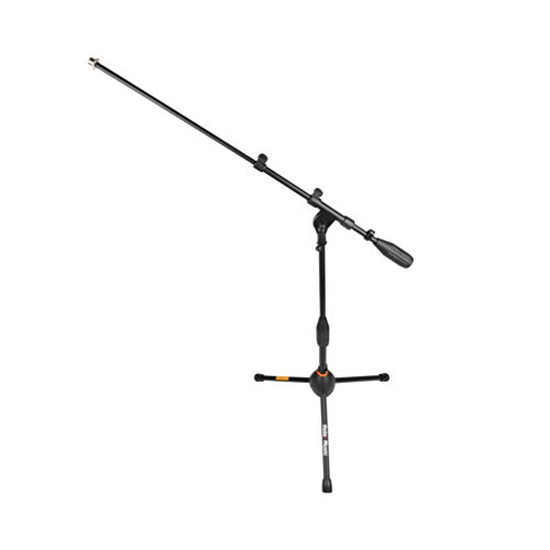 (Hola! Music HPS-101KD Professional Low Profile Tripod Microphone Mic Stand for Kick Drums, Black)