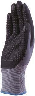 Deltaplus Mens Ve727 Nitrile Coating Pa Spandex Safety Work Gloves 8