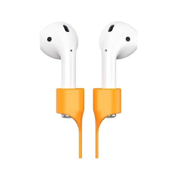 GadgetBite Anti-Lost Magnetic Strap Silicone Cable String for Apple Wireless Earphones 1 | Apple Wireless Earphones 2 | Apple Wireless Earphones Pro - Vibrant Yellow