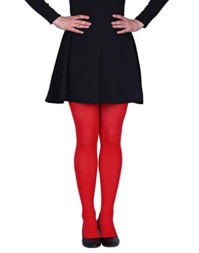 (HDE Womens Solid Candy Color Opaque Microfiber Footed Tights)