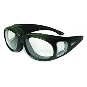 Global Vision Outfitter Motorcycle Glasses (Black Frame/Clear Lens)