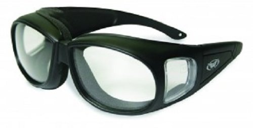 Global Vision Outfitter Motorcycle Glasses (Black Frame/Clear - Prescription Motorcycle Glasses