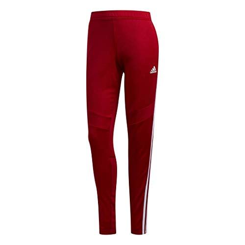adidas Women's Tiro19 Training Pants, Power Red/White, Small (Red Adidas Tracksuit Women)