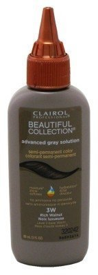 Beautiful Walnut (Clairol Beautiful Collection Advanced Gray Solution #3W Rich Walnut 3oz (3 Pack) by Clairol)