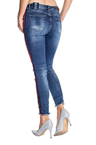 Liso Vaqueros para Azul Blue Monkey Mujer Jeans tqwO0