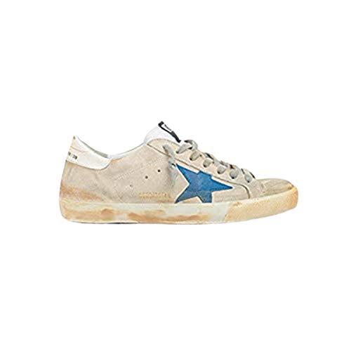 Golden-Goose-Superstar-Mens-Sneakers-Grey-in-Leather-Blue-Star