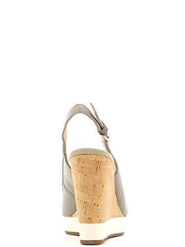 Sandalias y chanclas para mujer, color gris , marca GEOX, modelo Sandalias Y Chanclas Para Mujer GEOX DONNA JANIRA Gris gris