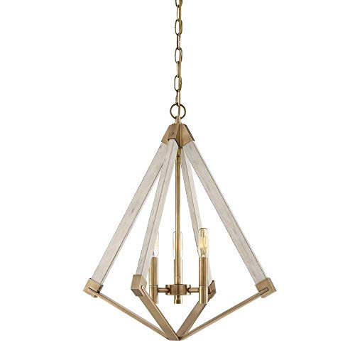 Quoizel VP5203WS View Point Lantern Foyer Pendant Lighting, 3-Light, 180 Watts, Weathered Brass (23