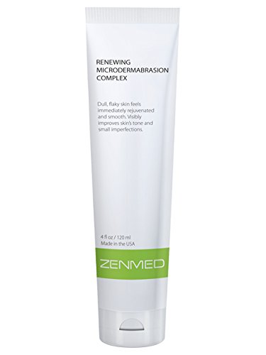 ZENMED Renewing MicroDermabrasion Exfoliate Facial Scrub Treats All Types of Scarring Ideal to Minimize Scars Uneven Skin Tone Fine Lines Oily Skin Montmorillonite Clay Zinc Oxide Soap-Free 4oz.