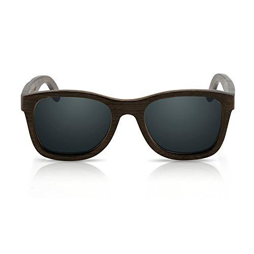 Oct17 Bamboo Wood Sunglasses, Real Wooden Eyewear, Vintage lightweight Polarized Lenses Sunglass for Men Women - - Sunglasses Friendly Eco