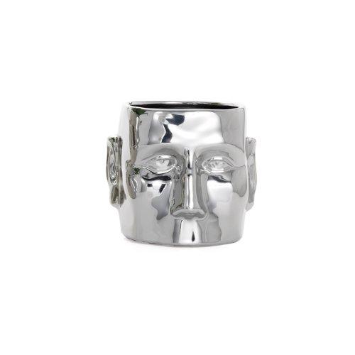 (Torre & Tagus 900363 Face Vase, Small, Chrome)