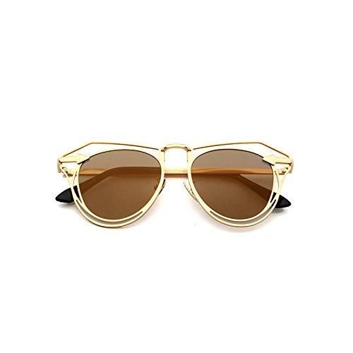 Frame Color señoras Gold Moda Gafas la Gold de Local Hueca de de los Local de Gafas Gafas Sol Las Hombres poligonales Sunglasses Sol Frame la Flecha Gold de Lente Las Gold Tyrant Tyrant xpqB0BSwv
