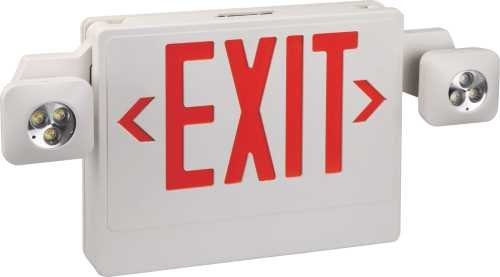 Monument 2472957 Emergency Exit Sign With Fully Adjustable LED Lamp Heads
