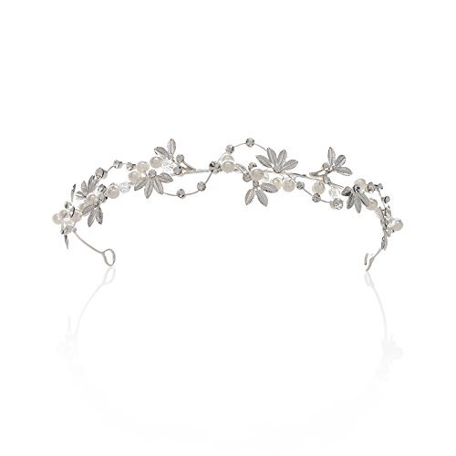 SWEETV Bridal Pearl Headband