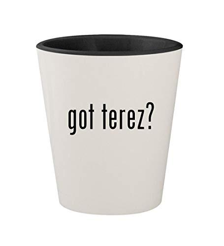 got terez? - Ceramic White Outer & Black Inner 1.5oz Shot -