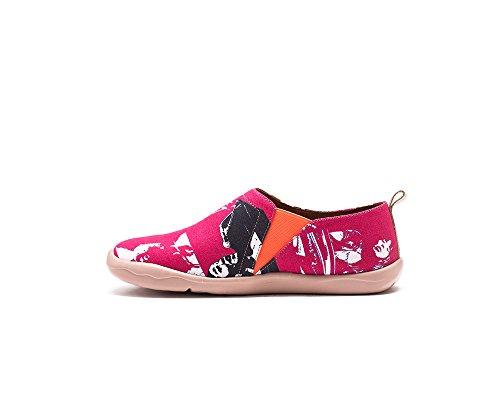 toiles rose rouge homme UIN bateaux pour de comfortable Chaussures Lena ZF1vwqWOP