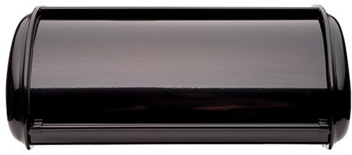 Polder 210201-95 Deluxe Steel Bread Box, Black