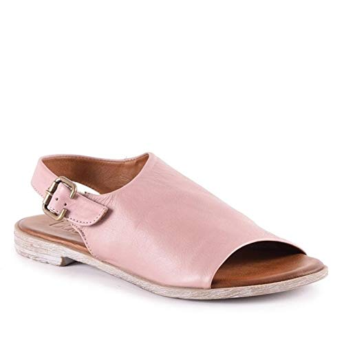Bueno Women's Angelina Sandal in Dusty Mauve W/Brown, 36 EU