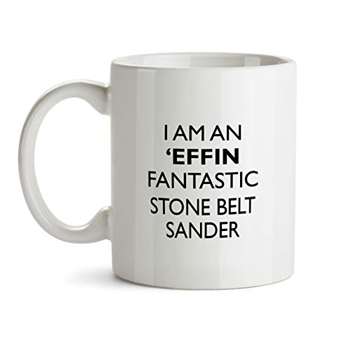 Stone Belt Sander Gift Mug - Effin ProfessionBest Ever Coffee Cup Colleague Co-Worker Thank You Appreciation Friend Recognition Present