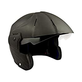 Deltz Power (ISI Certified) Open Face Helmet (Black Matte) (Large)