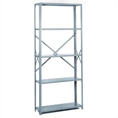 Lyon PP8742M Commercial Stand Alone Open Offset Angle Shelving with (Open Offset Angle Shelving)