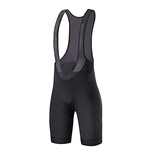 Santic Cycling Bike Bib Shorts Men Padded Tights Bicycle Pants Excellent Performance Black M