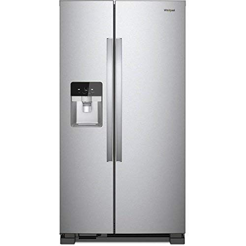 (Whirlpool WRS321SDHZ 21 Cu. Ft. Stainless Side-by-Side Refrigerator)