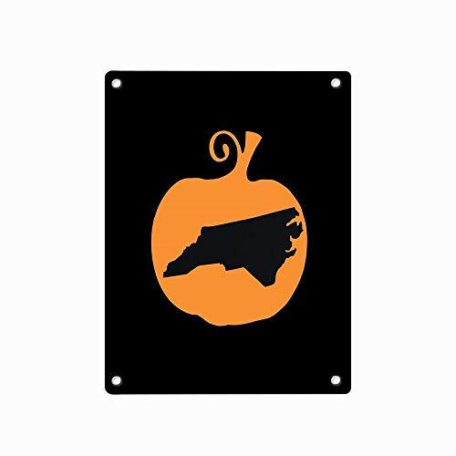 Halloween North Carolina Metal Sign Retro Decor for Wall Bar Home Pub Tin Sign Posters 12 x 8 Inch]()