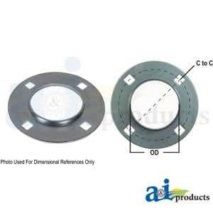 Rodamiento de Brida de la mitad re-lubricatable 4perno redondo w parte no: a-f4z80-i