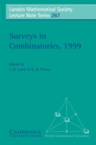 Surveys in Combinatorics, 1999 (London Mathematical Society Lecture Note Series)